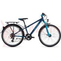 Bicicleta Cube Kid 240 Street baieti dark blue/aqua 2018