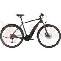 Bicicleta Cube Nature Hybrid One 400 Allroad Iridium/Blue 2020