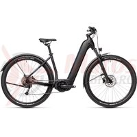 Bicicleta Cube Nuride Hybrid Performance 500 Alllroad 28' Easy Entry Black/Novablue 2021