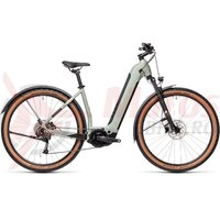 Bicicleta Cube Nuride Hybrid Performance 500 Alllroad 28' Easy Entry Lunar/Grey 2021