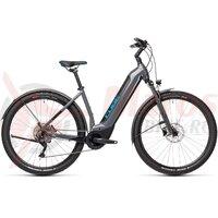 Bicicleta Cube Nuride Hybrid Pro 500 Allroad Easy Entry Grey/Blue 2021