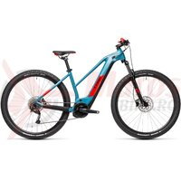 Bicicleta Cube Reaction Hybrid Performance 400 27.5' Trapeze Blue/Red 2021