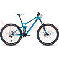 Bicicleta Cube Stereo 140 HPC Race 27.5 blue/grey 2018