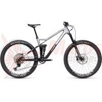 Bicicleta Cube Stereo 140 HPC SL 27.5 Polarsilver/Black 2021