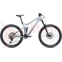 Bicicleta Cube Stereo 140 HPC SL 27.5 Polarsilver Black 2022