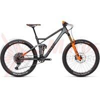 Bicicleta Cube Stereo 140 HPC TM 27.5 Flashgrey Orange 2021