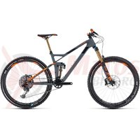 Bicicleta Cube Stereo 140 HPC TM 27.5 grey/orange 2018