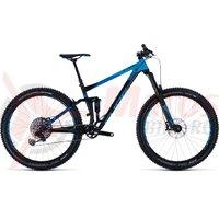Bicicleta Cube Stereo 150 27.5+ black/blue 2018