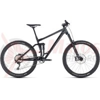 Bicicleta Cube Stereo 160 Race 27.5 black/grey 2018