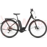 Bicicleta Cube Touring Hybrid EXC 500 Easy Entry Black Grey 2019