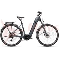 Bicicleta Cube Touring Hybrid One 400 Easy Entry Grey/Black 2021