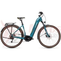 Bicicleta Cube Touring Hybrid One 500 Easy Entry Blue/Green 2021
