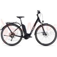 Bicicleta Cube Touring Hybrid Pro 400 Easy Entry Black/White 2018