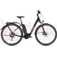 Bicicleta Cube Touring Hybrid Pro 500 Easy Entry Black/White 2018