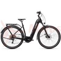 Bicicleta Cube Touring Hybrid Pro 625 Easy Entry Black/White 2021