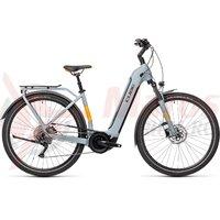 Bicicleta Cube Touring Hybrid Pro 625 Easy Entry Grey/Orange 2021
