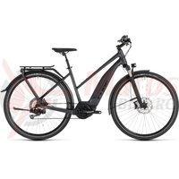 Bicicleta Cube Touring Hybrid SL 500 Kiox Iridium/Red 2019