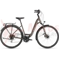 Bicicleta Cube Touring Pro Easy Entry Brown/Silver 2019