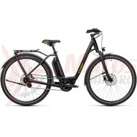 Bicicleta Cube Town Hybrid One 500 Easy Entry Black/Green 2021