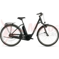 Bicicleta Cube Town Hybrid One 500 Easy Entry Iridium/Black 2020