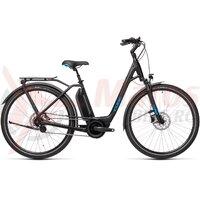 Bicicleta Cube Town Hybrid Pro 500 Easy Entry Black/Blue 2021