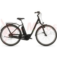 Bicicleta Cube Town Hybrid Pro Rt 400 Easy Entry Black/Green 2020