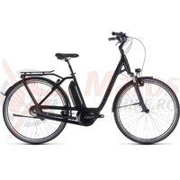 Bicicleta Cube Town Hybrid Pro RT 400 Easy Entry Black/Grey 2018