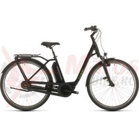 Bicicleta Cube Town Hybrid Pro RT 500 Easy Entry black/green 2020