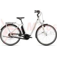 Bicicleta Cube Town Hybrid PRO RT 500 Easy Entry White/Silver 2019