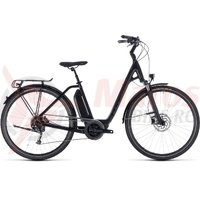 Bicicleta Cube Town Hybrid Sport 400 Easy Entry Black Edition 2018