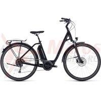 Bicicleta Cube Town Hybrid Sport 500 Easy Entry Black Edition 2018