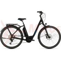 Bicicleta Cube Town Sport Hybrid EXC 500 Easy Entry black/blue 2020