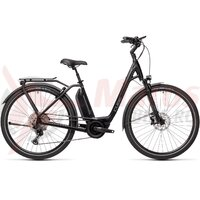 Bicicleta Cube Town Sport Hybrid EXC 500 Easy Entry Black Grey 2021