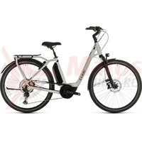 Bicicleta Cube Town Sport Hybrid EXC 500 Easy Entry grey/red 2020