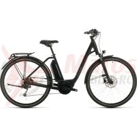 Bicicleta Cube Town Sport Hybrid One 500 Easy Entry Black/Grey 2020