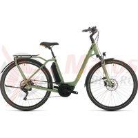 Bicicleta Cube Town Sport Hybrid Pro 400 Easy Entry Green/Orange 2020