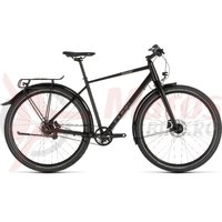 Bicicleta Cube Travel PRO Black/Brown 2019