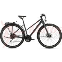 Bicicleta Cube Travel Trapeze Iridium/Red 2020