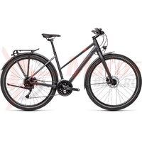 Bicicleta Cube Travel Trapeze Iridium/Red 2021