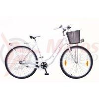 Bicicleta DAMA CLASSIC 1s. - 28'' - Alb/Roz-Albastru