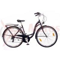 Bicicleta Dama Neuzer Ravenna 30 - 28''-Negru/Alb-Pink