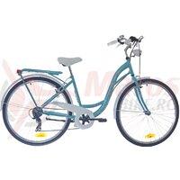 Bicicleta dama Neuzer Ravenna 6 Plus - 28''- Celeste/Alb