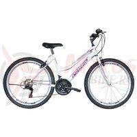 Bicicleta de dama Neuzer Nelson TY37 21v -  26' Alb/Mov-Violet
