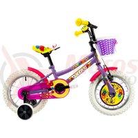 Bicicleta DHS 1402 Kids violet 2019