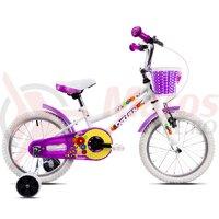 Bicicleta DHS 1602 Kids alba 2019