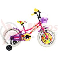 Bicicleta DHS 1602 Kids roz 2019