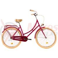Bicicleta DHS 2632 Citadinne roz 2019