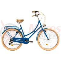 Bicicleta DHS 2634 Citadinne albastra 2019