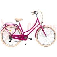 Bicicleta DHS 2634 Citadinne roz 2019