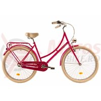 Bicicleta DHS 2636 Citadinne roz 2019